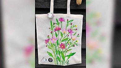 Iné tašky - ♥ Plátená, ručne maľovaná taška ♥ - 11335913_