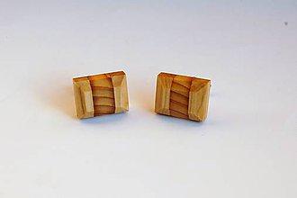 Šperky - Drevené manžetové gombíky - Lipovo - borovicové - 11336727_