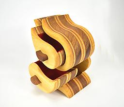 Krabičky - Šperkovnica - exotické drevo, dub (Bandsaw box) - 11334846_