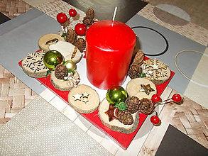 Dekorácie - Vianočný svietnik - 11338375_