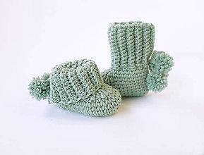 Topánočky - Merino papučky s brmbolcom - 11335739_