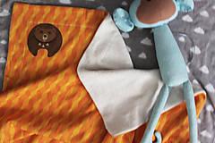 """Textil - Biobavlnená detská deka """"Medveď"""" - 11338092_"""