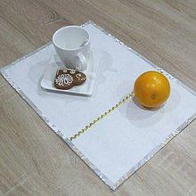 Úžitkový textil - GRACIA - zlaté a biele vločky - prestieranie 28x40 - 11337205_