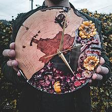Hodiny - Sunny Garden - Živicové drevené hodiny - 11338001_