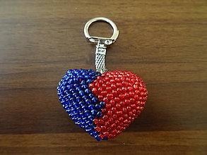 Kľúčenky - Háčkovaný prívesok na kľúče - srdce - 11335482_