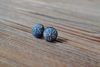 Náušnice - Modré náušnice kvet - 11337559_