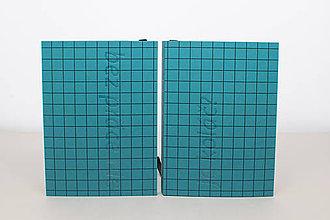 Papiernictvo - Týždenný diár 2020 (praktik) A6 (tyrkysová mriežka s textom) - 11335392_