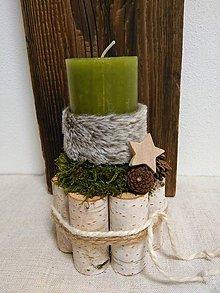 Svietidlá a sviečky - Machový svietnik - 11337746_