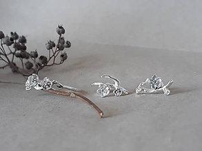 Náušnice - napichovacie náušnice - čerešňové kvety (sakura) - 11335695_