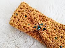 Ozdoby do vlasov - Horčicova čelenka s perličkami - 11335411_