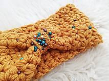Ozdoby do vlasov - Horčicova čelenka s perličkami - 11335413_