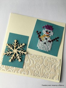 Papiernictvo - Vianočný pozdrav Snehuľko - 11336058_