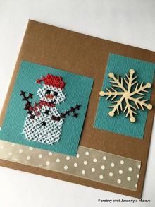Papiernictvo - Vianočný pozdrav Snehuľko 2 - 11336088_