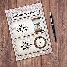 Papiernictvo - Ideálna postava a hodiny - zápisník - 11334348_