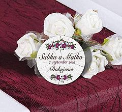 Darčeky pre svadobčanov - Svadobné magnetky - 11338546_
