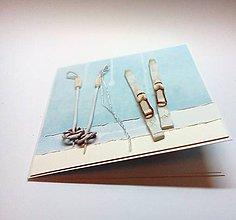 Papiernictvo - Pohľadnica ... lyžovačka - 11341660_