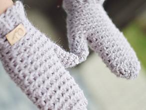Rukavice - Rukavice s alpakou: perlovo ružová - 11339693_