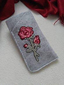 Na mobil - Ruža voňavá (púzdro na okuliare, mobil) - 11339482_