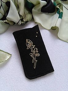 Na mobil - Ruža zlatá (púzdro na okuliare, mobil) - 11339510_