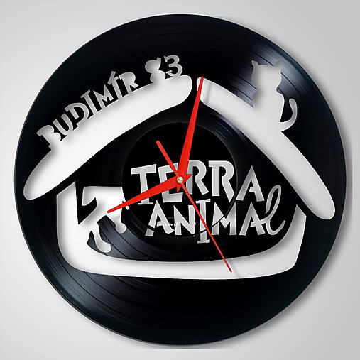 Budimír, Terra Animal - vinylové hodiny (vinyl clocks)