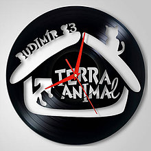 Hodiny - Budimír, Terra Animal - vinylové hodiny (vinyl clocks) - 11341952_