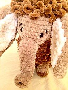 Hračky - Háčkovaný sloník - mamut - 11338629_