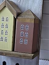 Nábytok - Vešiak s domčekami - 11340850_