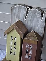 Nábytok - Vešiak s domčekami - 11340854_