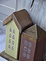 Nábytok - Vešiak s domčekami - 11340855_