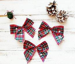 Dekorácie - Vianočné ozdoby - Mašle - 11339938_