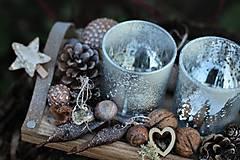 Dekorácie - Adventný svietnik- naturálny - 11340601_