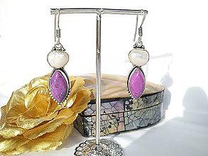 Náušnice - Náušnice Ag 925/Perleť & ružový Tyrkys - 11339360_