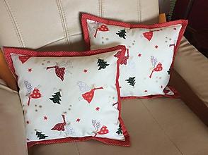 Úžitkový textil - vianočný vankúšik víly - 11338706_