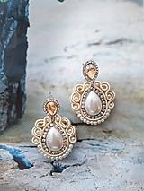 Náušnice - smotanovo perleťové náušničky - 11341470_