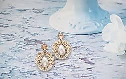 Náušnice - smotanovo perleťové náušničky - 11341473_