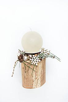 """Dekorácie - Vianočný svietnik """"Krása chýb"""" - 11342193_"""