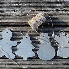 Dekorácie - Betónová vianočná ozdoba QUATRO - 11339234_