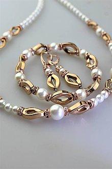 Sady šperkov - Perly swarovski a hematit  - luxusný set - 11342345_