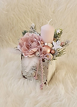 Dekorácie - Vianočná vintage dekorácia - 11341183_
