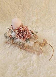 Dekorácie - Vianočná dekorácia sane - 11341225_