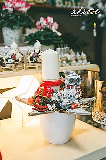 Dekorácie - Vianoce - adventný aranžmán - hviezda - 11341733_