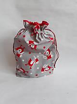 Úžitkový textil - Mikulášske, vianočné vrecúško Rudolf - 11341691_
