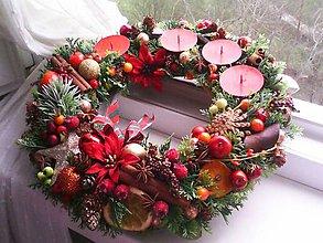 Dekorácie - Adventný veniec ...vianočné sníčky ... - 11339668_
