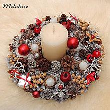 Dekorácie - Vianočný svietnik - 11338990_