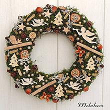 Dekorácie - Prírodný vianočný veniec - 11341051_