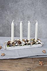 Dekorácie - Adventný svietnik - 11339632_