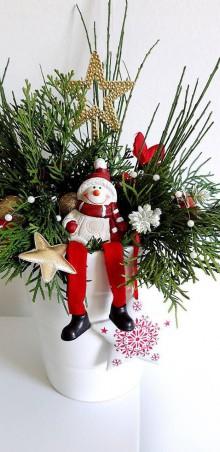 Dekorácie - Vianočná kytica - 11340449_