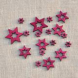 Polotovary - Drevené hviezdičky - 11341641_