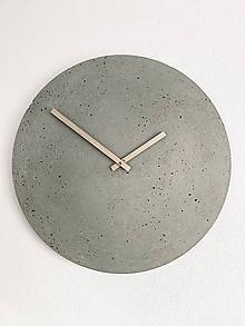 Hodiny - Betónové hodiny - PURE 50 - 11340313_