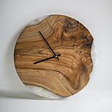 Hodiny - Živicové hodiny z teakového dreva Sand Beach - 11342431_